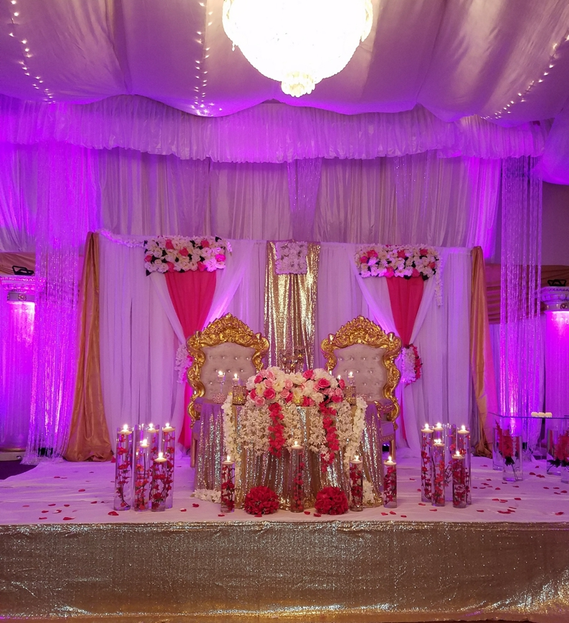 The Power of Fusia pink and Gold Color Palette Ballroom 2