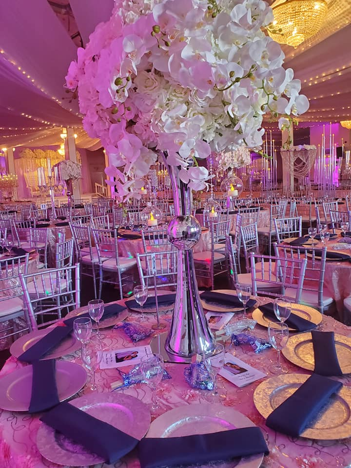 Silver and Blush pink (Big Ballroom)